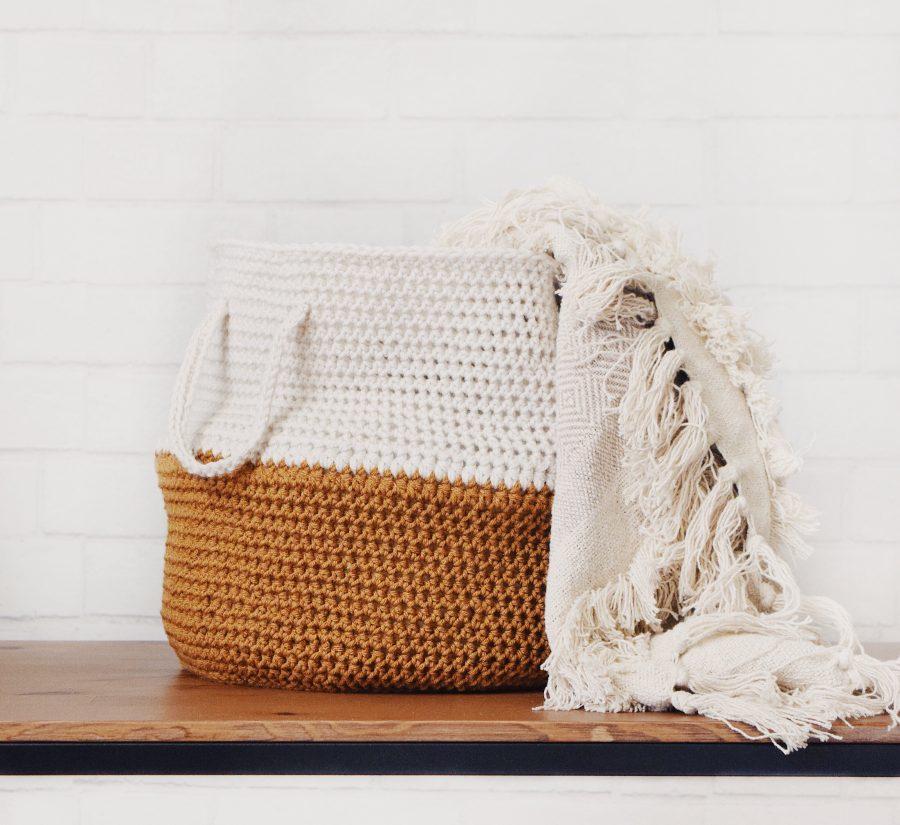 scandinavian midcentury modern basket