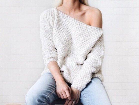 knittingwonders knit sweater off shoulder