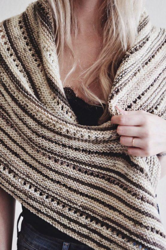 knit lacy shawl scarf pattern
