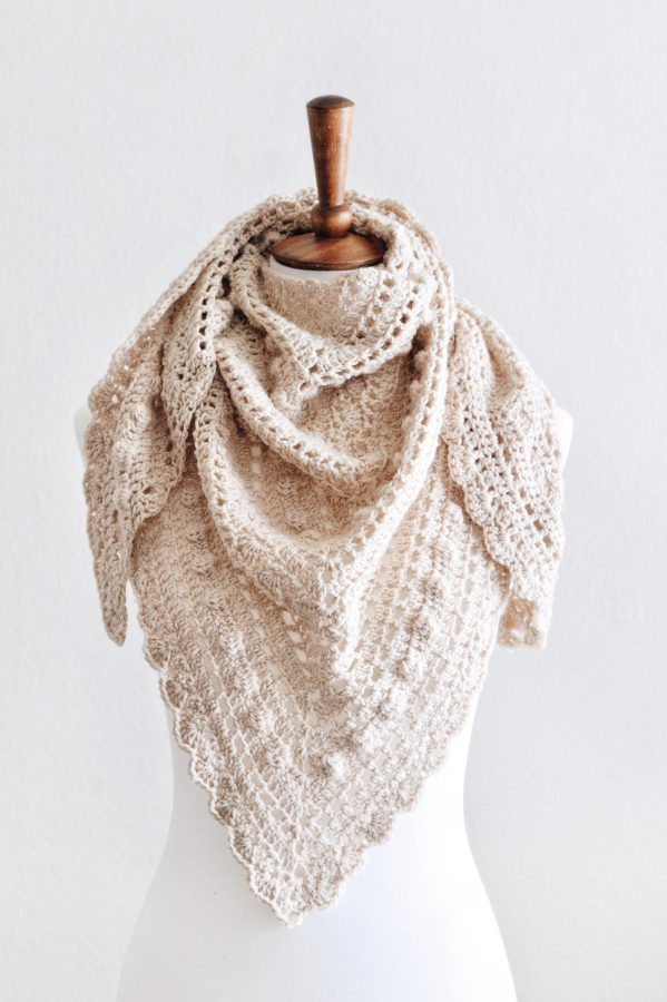 The Isla Scarf Crochet Pattern ⨯ A Vintage-Inspired Lace +