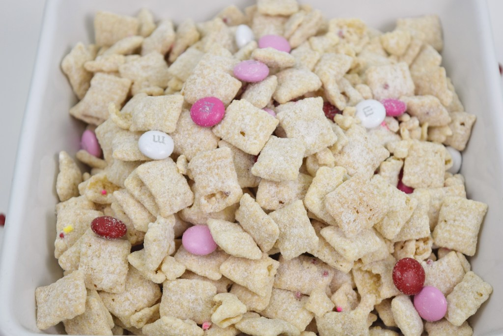 Cupids Snack Mix closeup