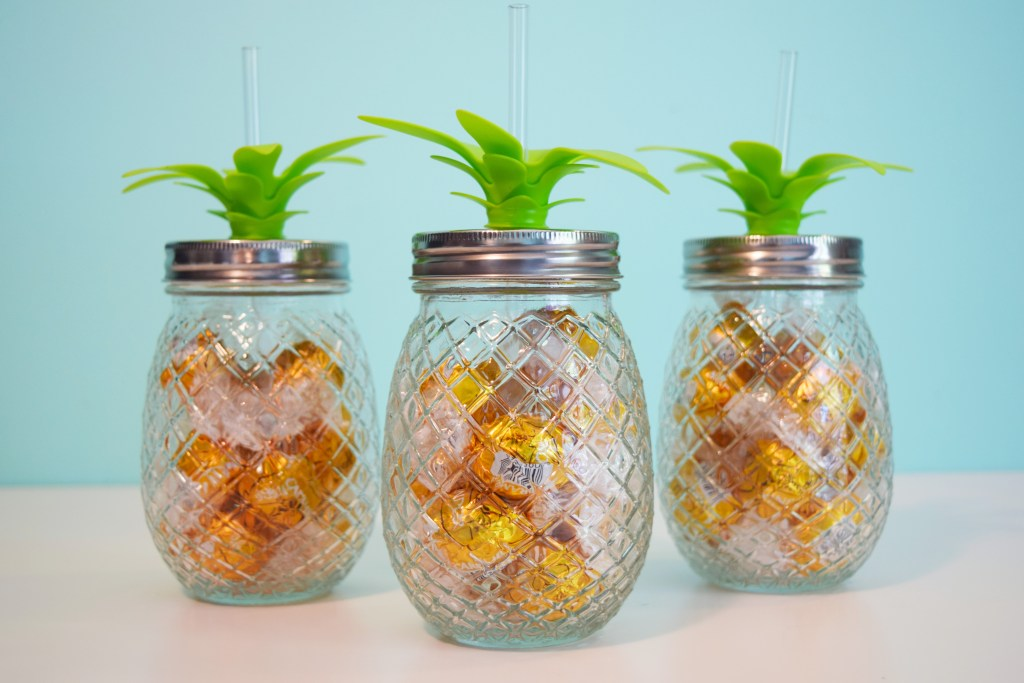 pineapple tumbler teacher gifts with candy