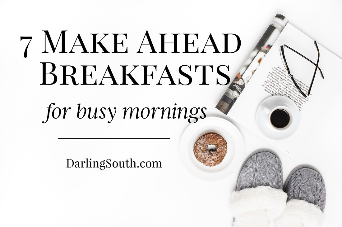 make ahead breakfasts