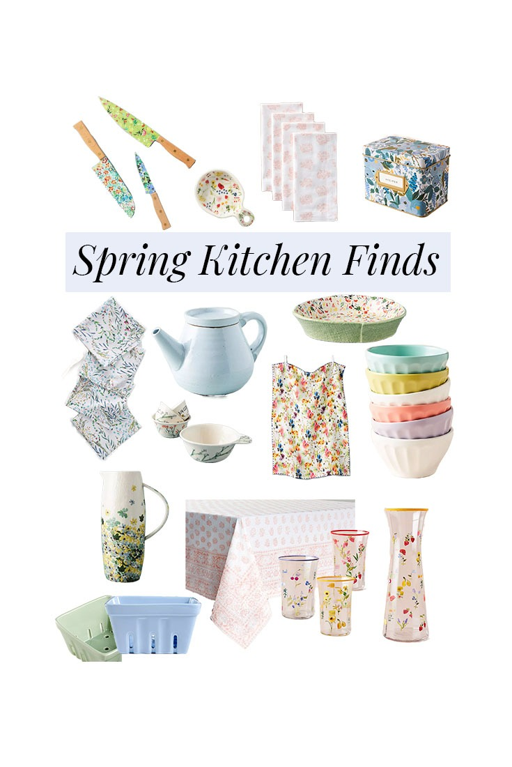 A collection of kitchen items to refresh your home for Spring.