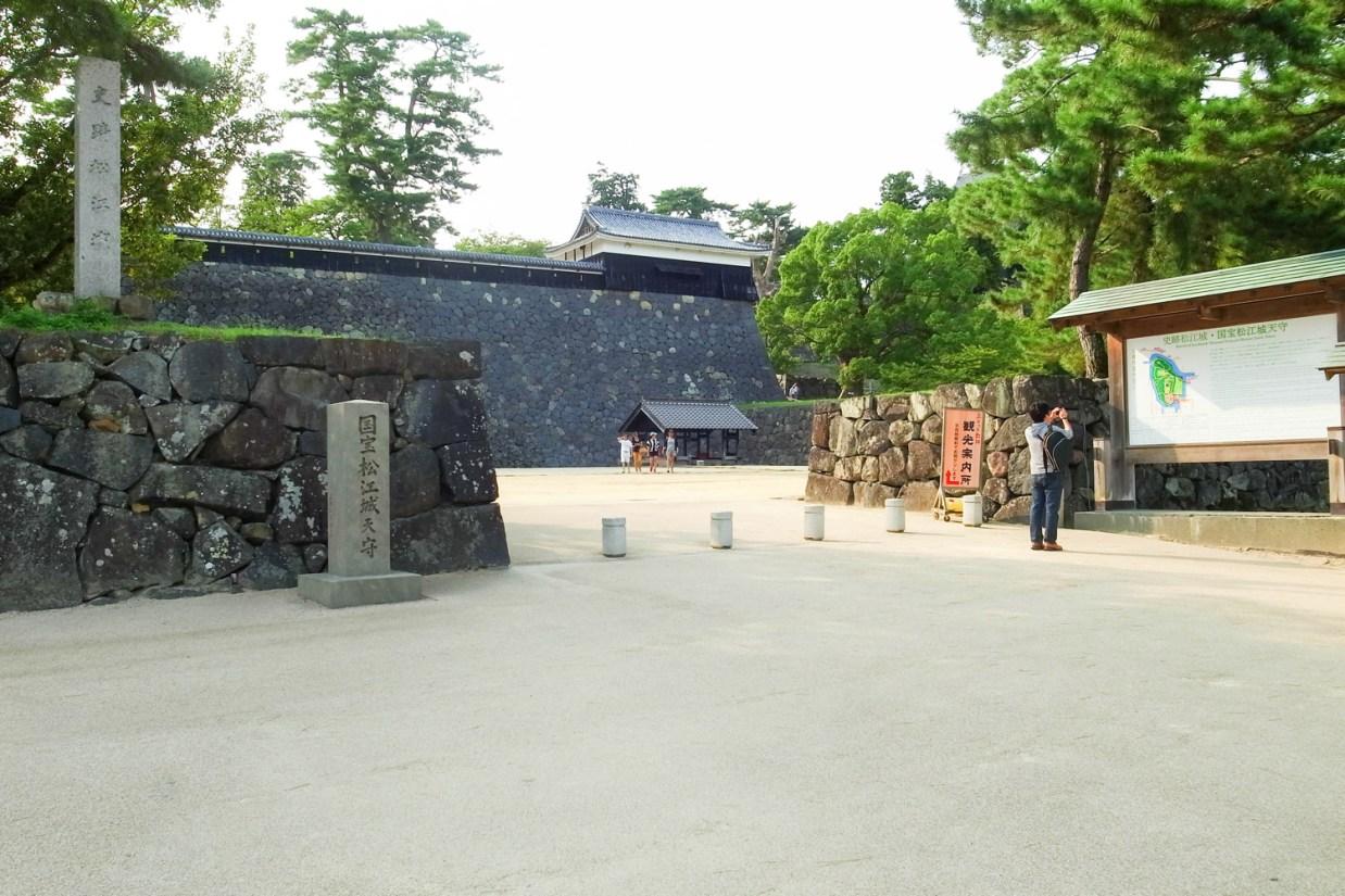 松江城の写真