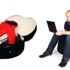 Bean Bag Storage Chair Folding Dining Room Brooklyn Mom Invents Beanbag For Tiny Apartments