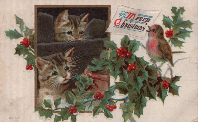 Aunt Etta's Assorted Christmas Postcards