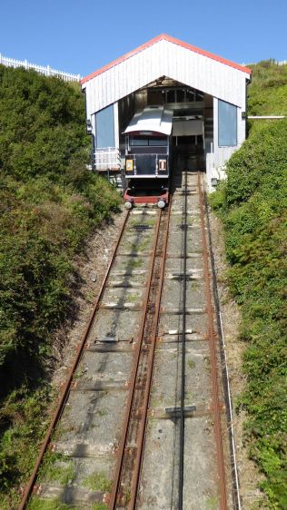 The non-working Aberystwyth Funicular Cliff Railway