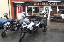 Pit stop at West End Cafe, Llandovery