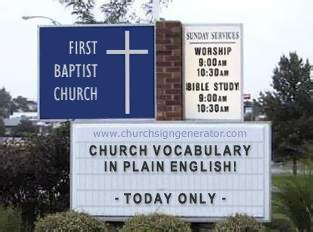 (Pentecostal) Church Vocabulary Lessons Here!
