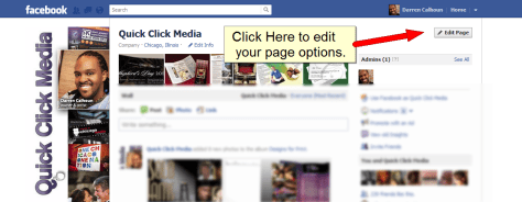 How To Change Your Default Facebook Tab - Step 1