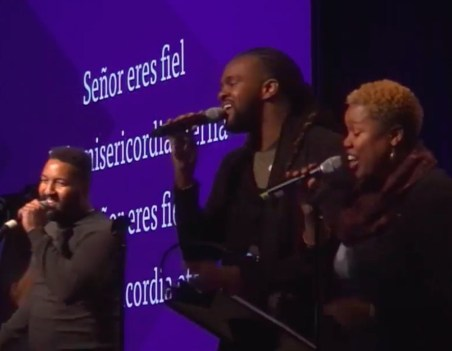 """We sang """"You Are Good"""" in English and Spanish... practicing what it might be like to worship as one from every language, tribe, and tongue!"""
