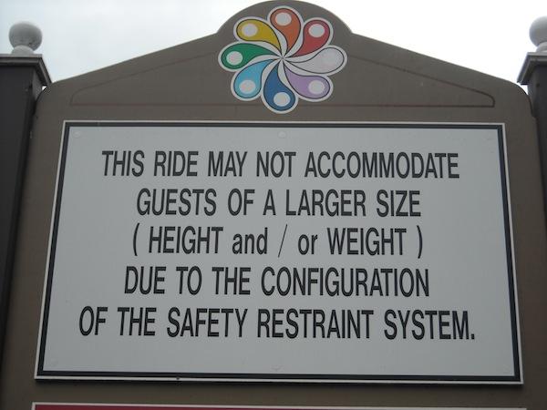 Amusement Park Weight Limits  Darren Garnicks Culture