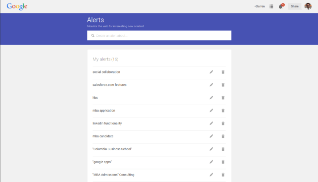 Simple. Elegant. Clean. The New Google Alerts Interface