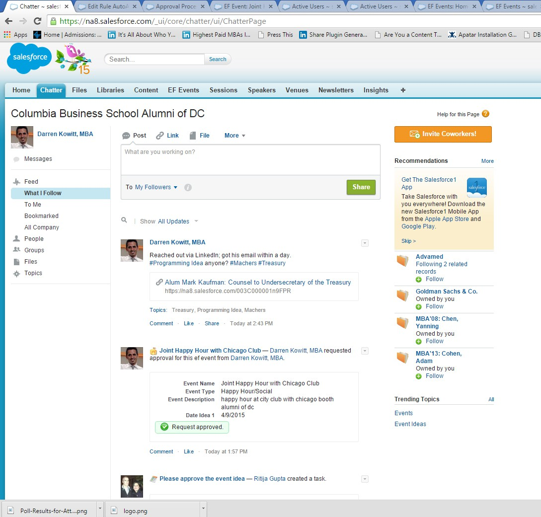 Fun with Salesforce.com Approval Workflows in a Volunteer Context