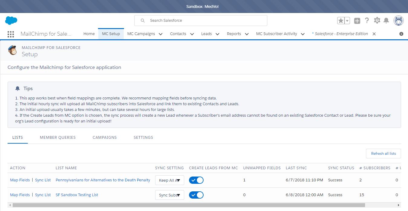 Mailchimp for Salesforce on AppExchange: Major Fail