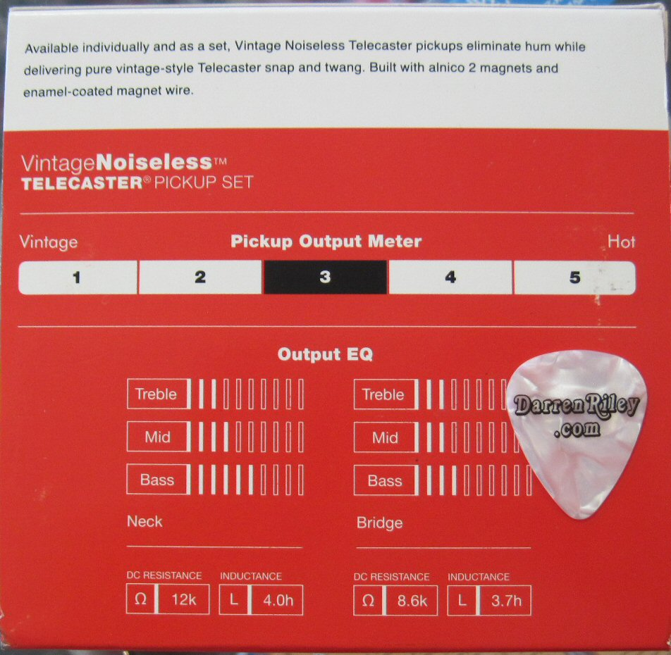 medium resolution of fender vintage noiseless telecaster pickups set 0992116000
