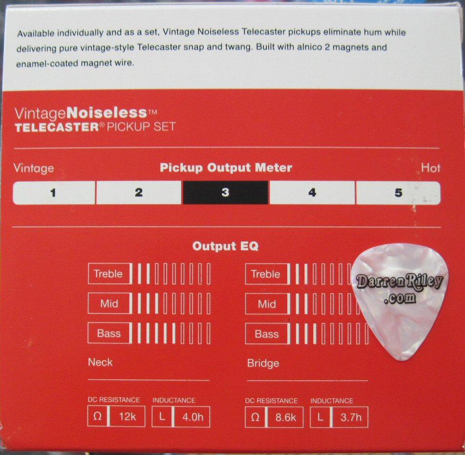 hight resolution of fender vintage noiseless telecaster pickups set 0992116000