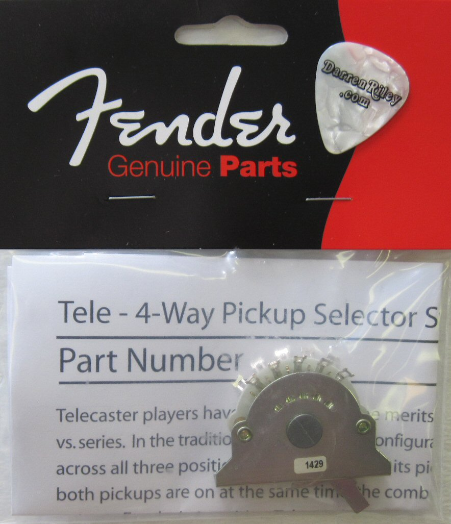 Fender Telecaster Custom Shop 4 Way Switch 0992250000 Parts Is