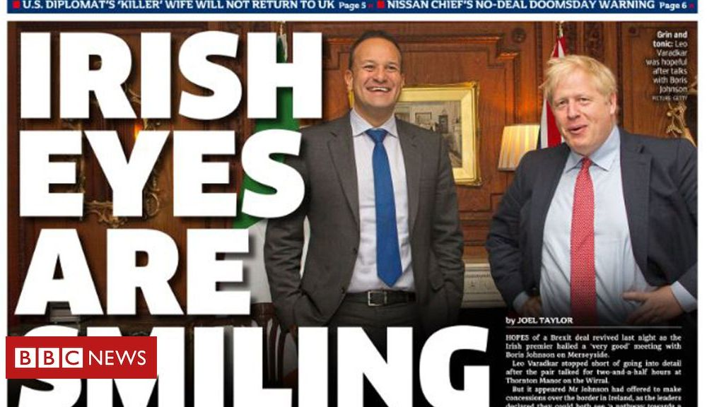 The Papers: 'Irish eyes are smiling' after Brexit talks