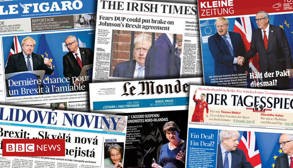Brexit: Europe's press welcomes deal but doubts it will succeed