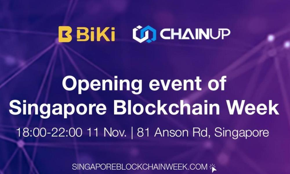 Crypto ChainUP and BiKi.com Host Opening Event of Singapore Blockchain Week