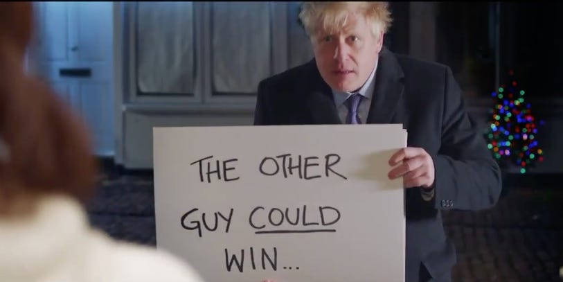 'Brexit, actually': UK Prime Minister Boris Johnson parodied the 2003 rom-com 'Love Actually' as a major election looms