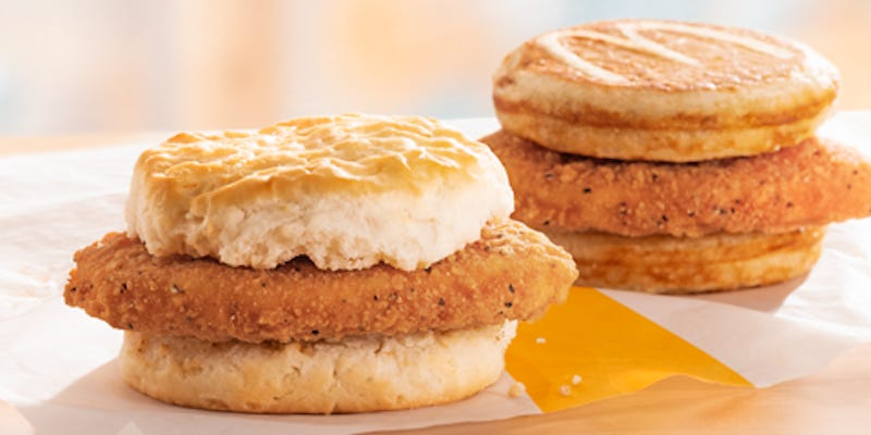 McDonald's is adding 2 new chicken sandwiches to its breakfast lineup