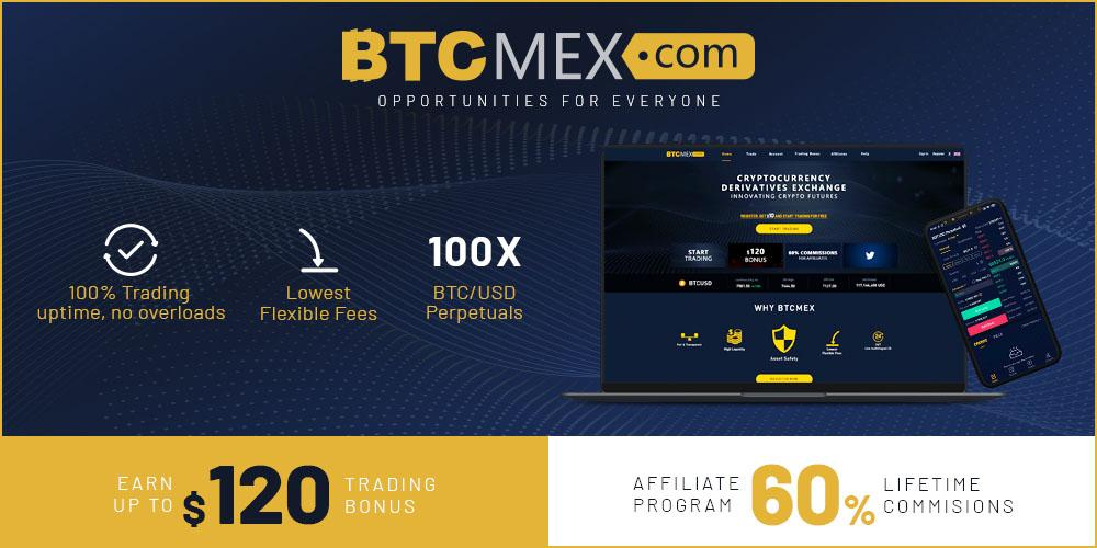 Crypto Trade Crypto Derivatives on BTCMEX and Enjoy a $120 Trading Bonus with Great Affiliate Rewards