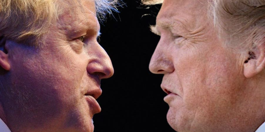 Trump is set to strike a trade deal with the EU ahead of the UK as his relationship with Boris Johnson sours