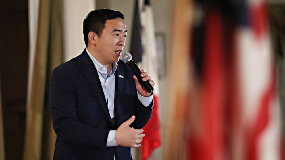 Andrew Yang to voters: It's OK to go with a non-establishment candidate