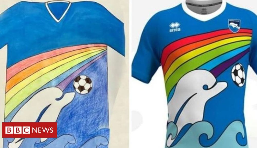 Sport Pescara football club adopts Italian boy's shirt design