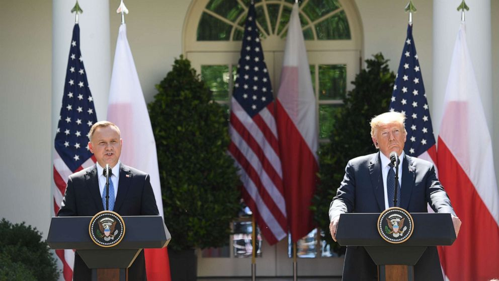Trump says US 'probably' will move troops from Germany to Poland