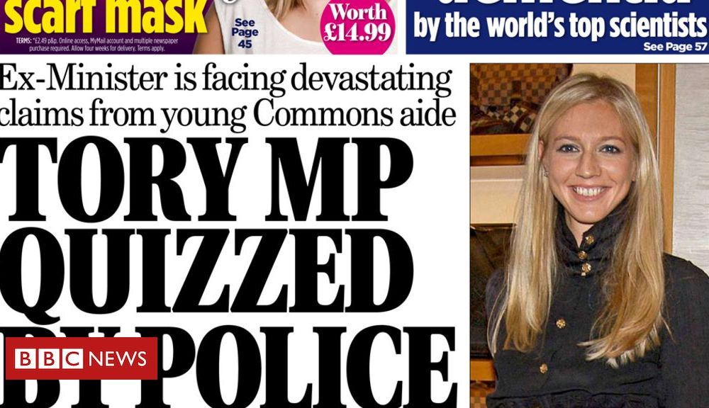 Newspaper headlines: 'Tory MP arrested' and PM urged to stop 'chaos'