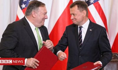 Trump Pompeo signs deal to redeploy troops from Germany to Poland