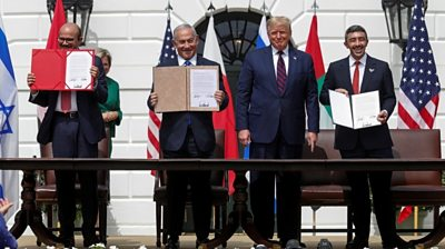 Trump Trump on Israel-UAE-Bahrain deals: 'We mark the dawn of a new Middle East'