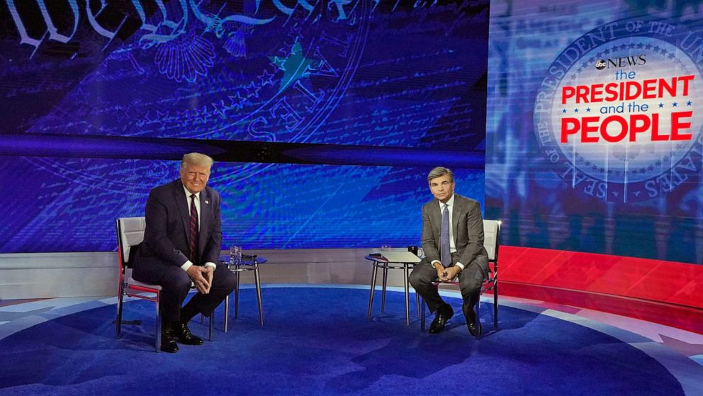 'I up-played it': In ABC town hall, Trump denies minimizing pandemic threat
