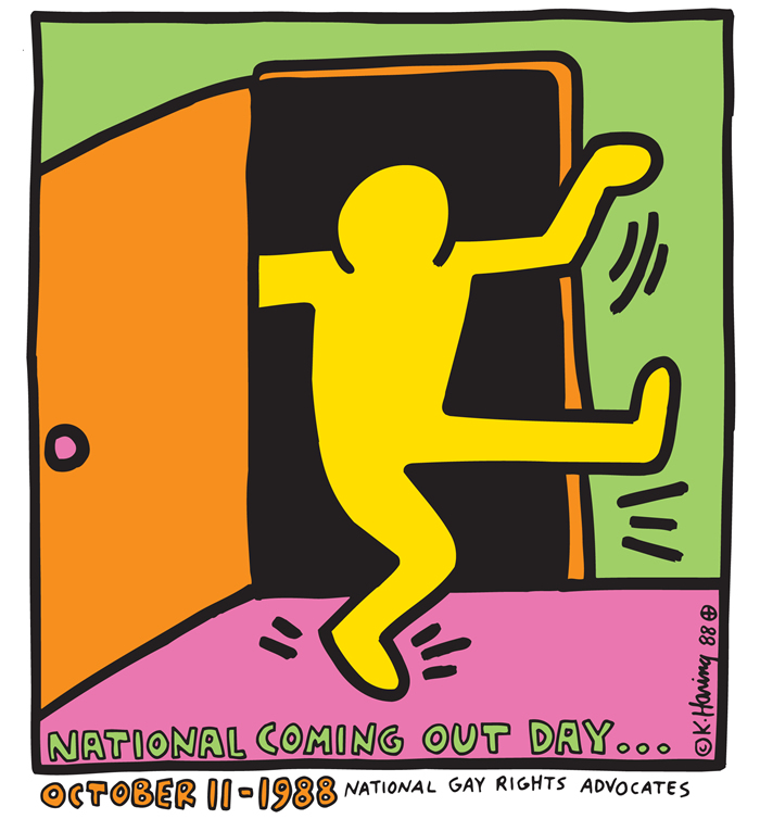 Keith Haring National coming out day