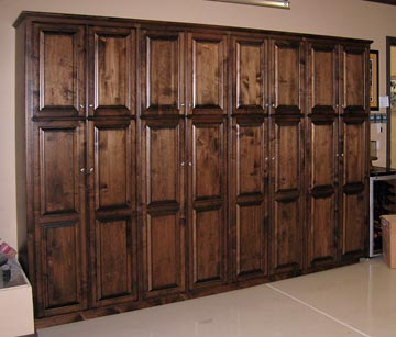 Wood Garage Storage Cabinets With Doors  Woodideas