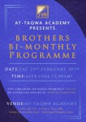 Brothers Bi-Monthly Programme at AT-Taqwa