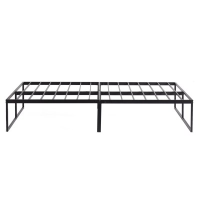 Side view of the Weekender™ Modern Platform Frame features clean lines, sturdy support, and 12 inches of underbed storage. This frame requires assembly.