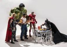Nobody interrupts when Batman's eating