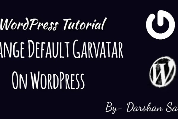 change default Garvatar in WordPress