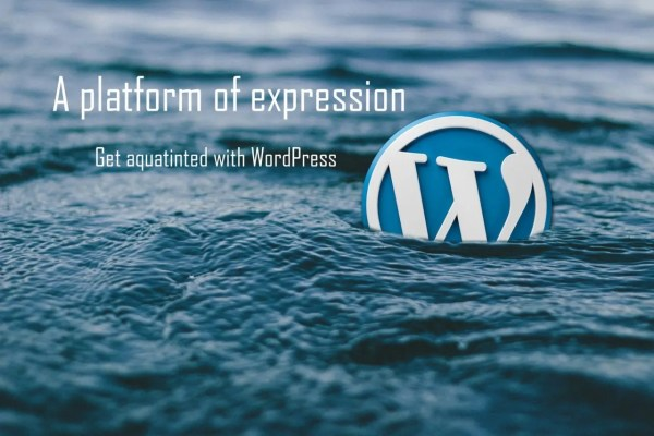 A platform of expression! - Get aquatinted with WordPress
