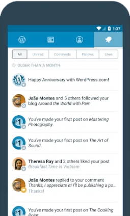 wordpress android app for blogger