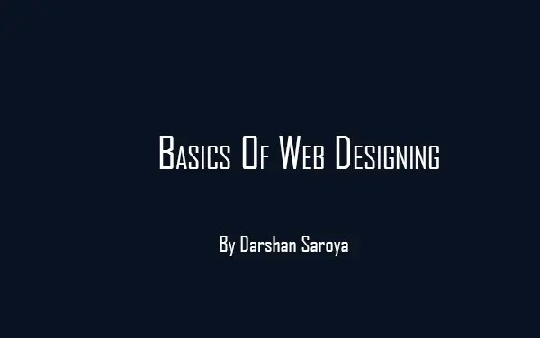 learning basics of web designing