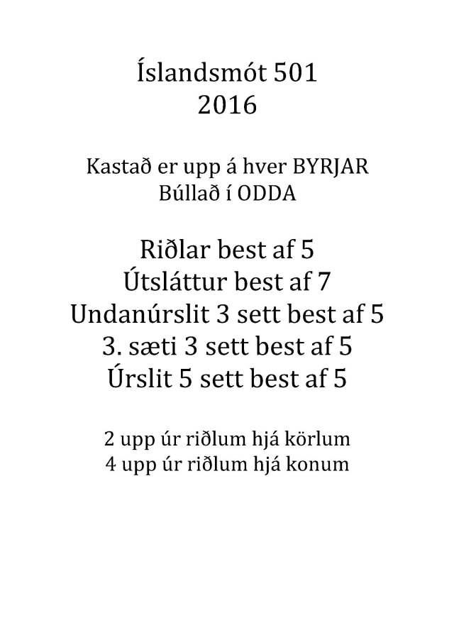 Íslandsmót 501
