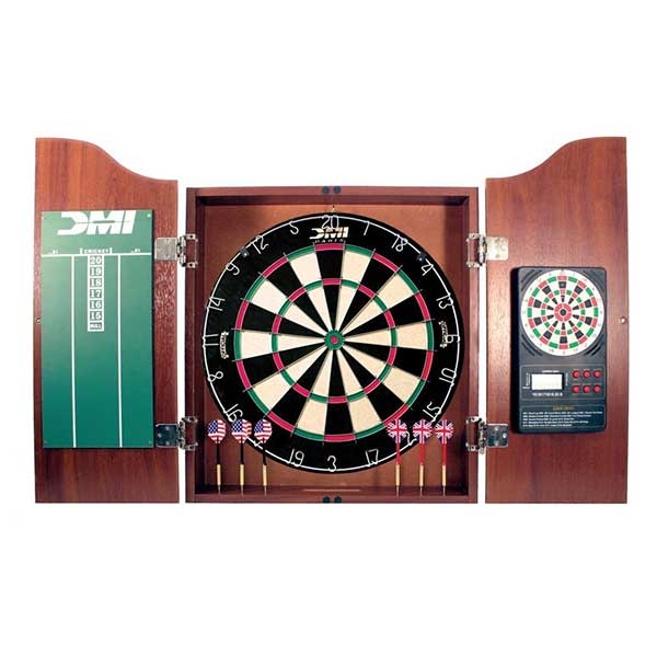 DMI Bristle Dartboard In Cherry/Oak Cabinet Review