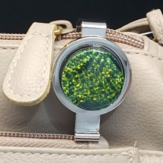 Green Dichroic Key Finder with Swirls Pattern