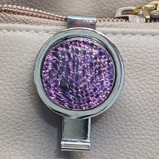 Magenta Dichroic Key Finder with Swirls